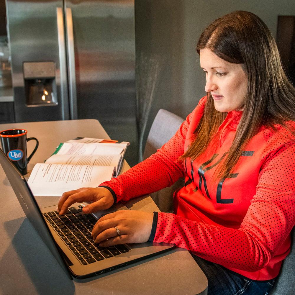 Elizabeth Studying